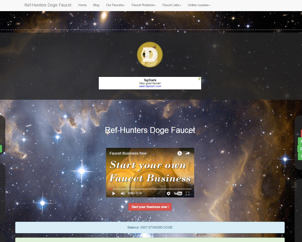 Ref-Hunters.ch | Adspace Doge Faucet of the Week